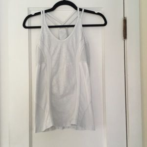 Zella White Tank with built in Bra Size L